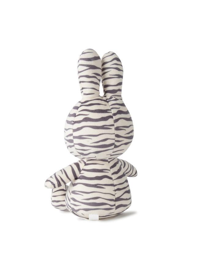 Miffy Sitting Velvet All Over ZEBRA PRINT- 23 cm
