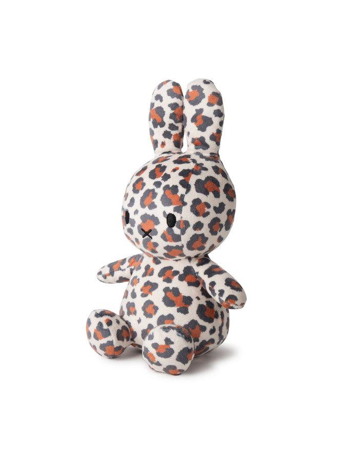Miffy Sitting Velvet All Over LEOPARD PRINT 23 cm