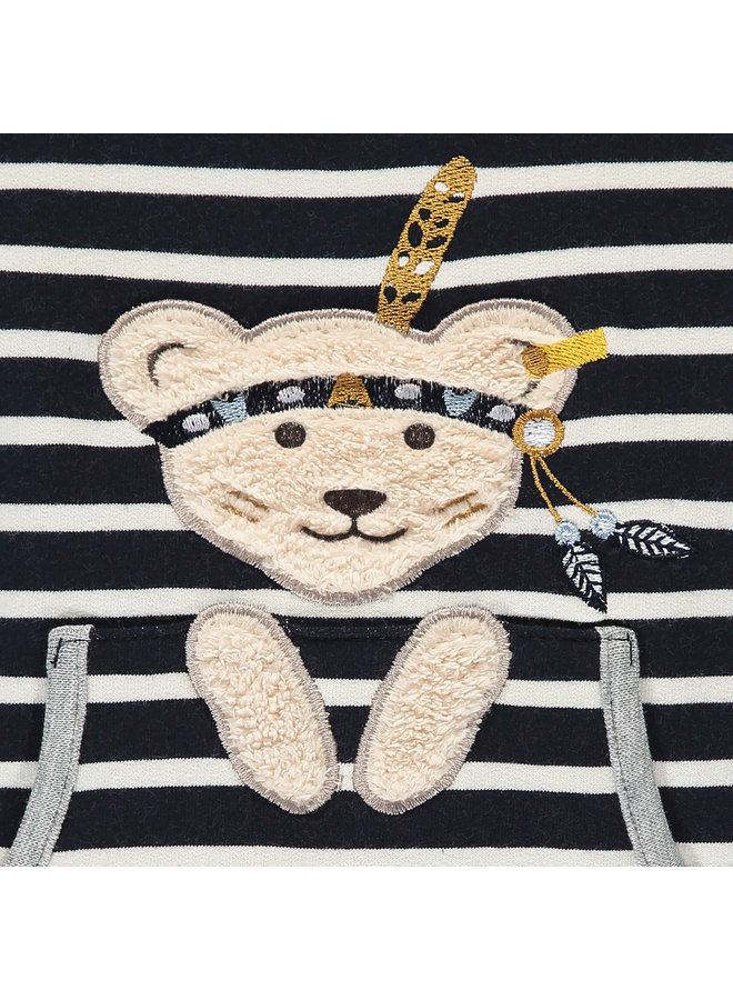 Steiff Baby Sweatshirt blau  mit Teddy Häuptling