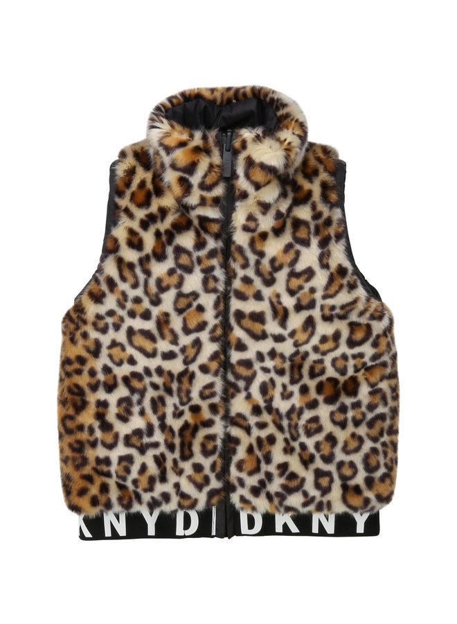 DKNY KIDS Wendeweste Leopard