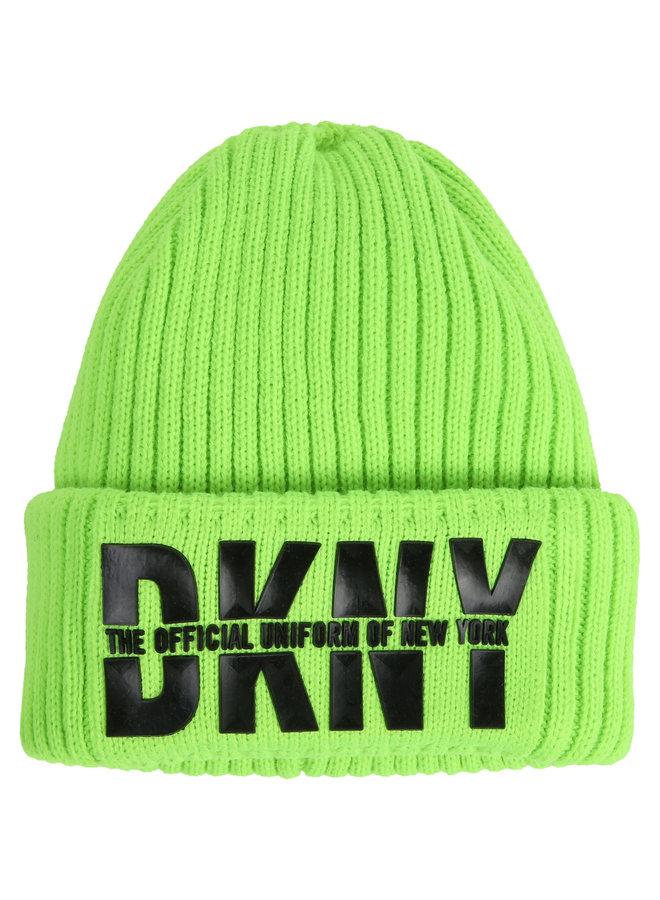 DKNY KIDS Mütze mit 3D Logo neon grün