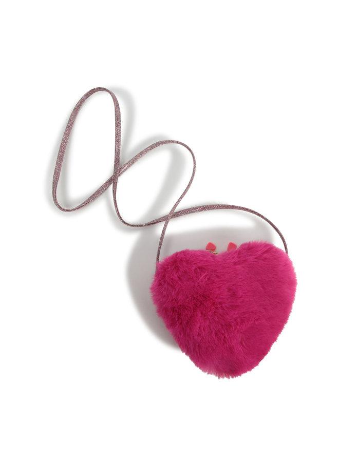 Billieblush Tasche Herz mit Flausch und glitzer
