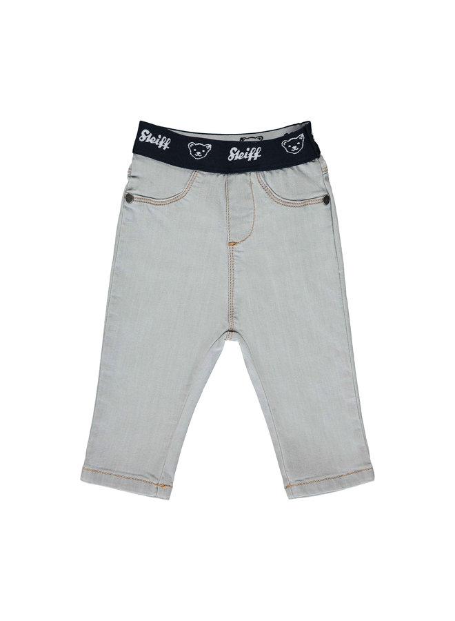 Steiff Baby Jeans hellgrau