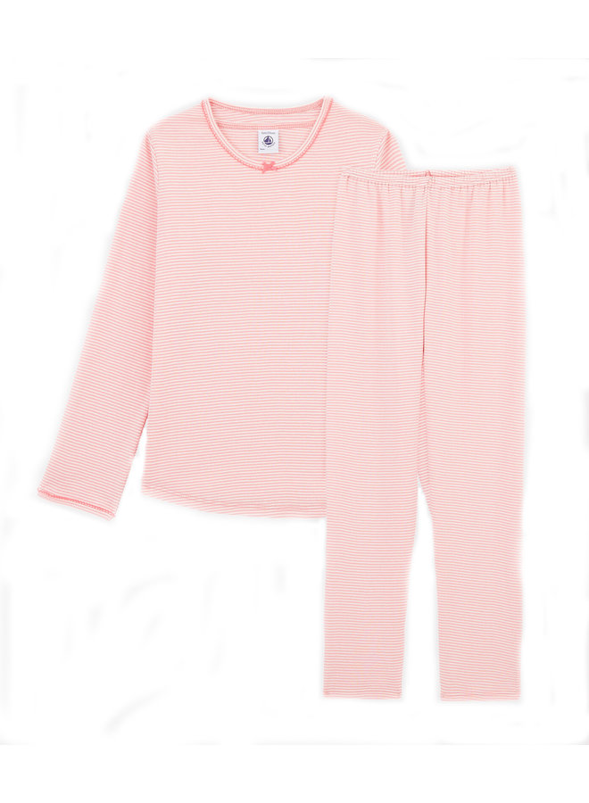 Petit Bateau Pyjama Ringelmuster