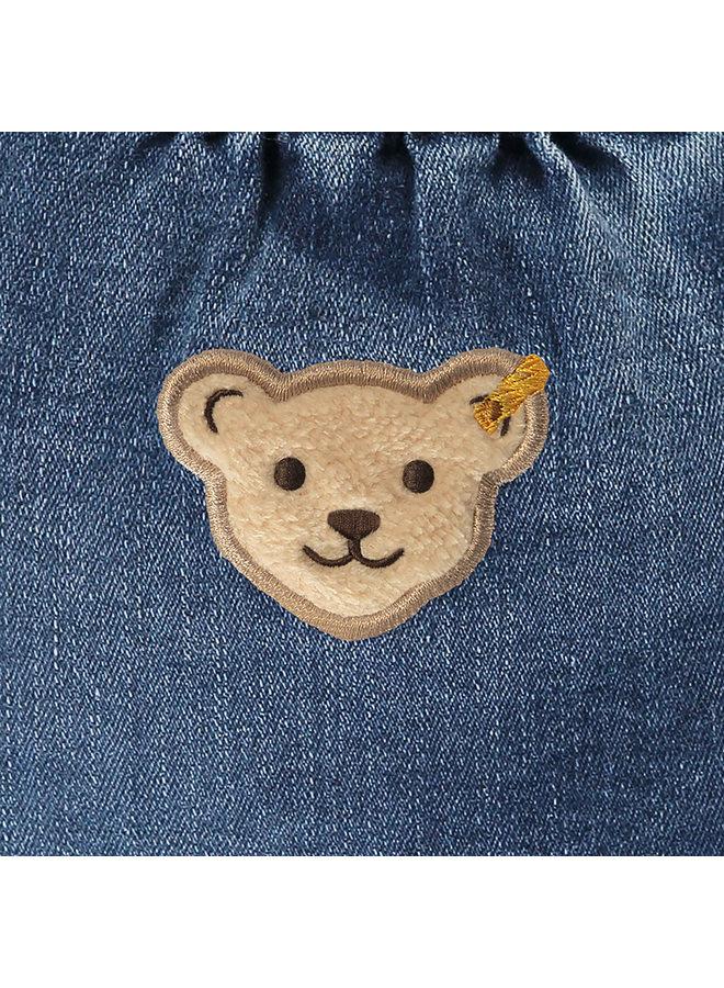 Steiff Baby Jeanshose superweich mit Teddy Knieschonern