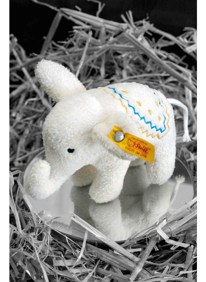Steiff Elefäntle Rassel creme Elefant 10cm