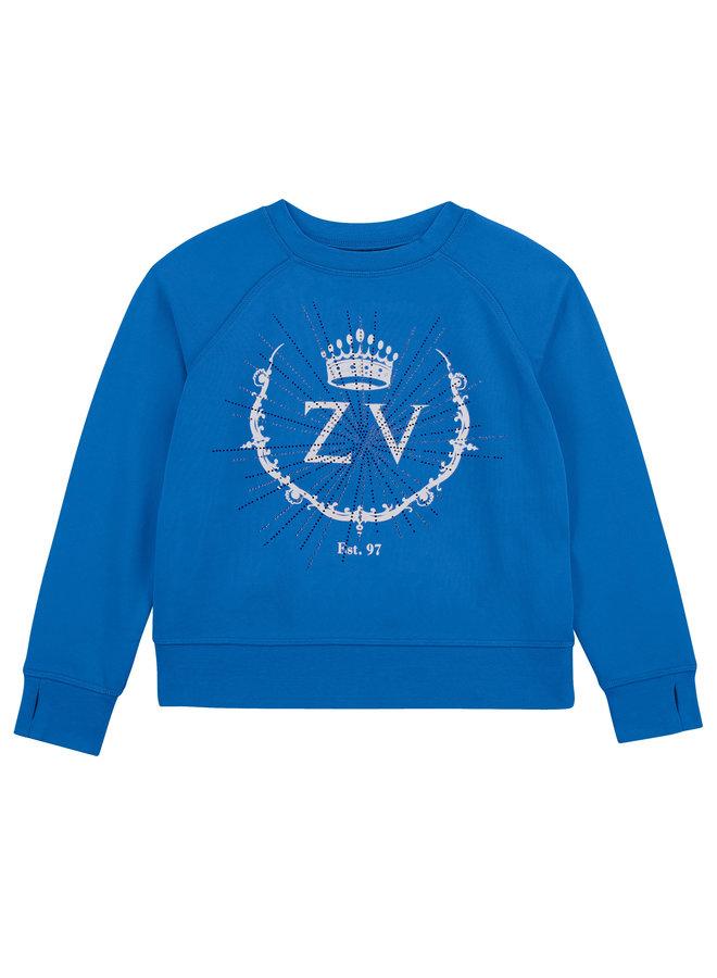 Zadig & Voltaire Sweatshirt blau mit Strass