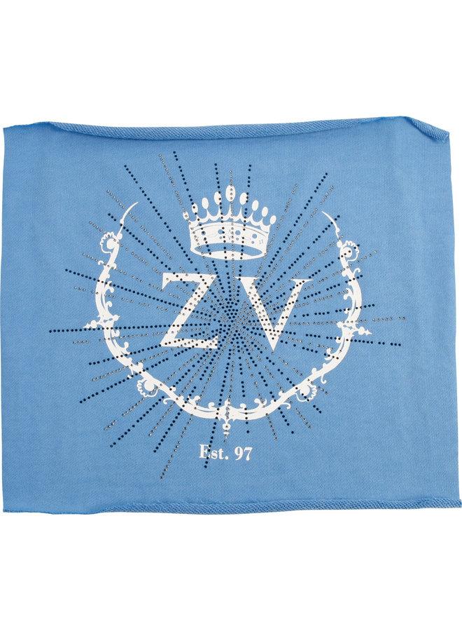 Zadig & Voltaire Sweatshirt blau mit Markenkürzel und Strass