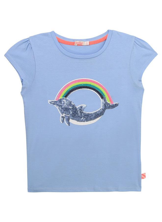 Billieblush T-Shirt Pailletten Delphin