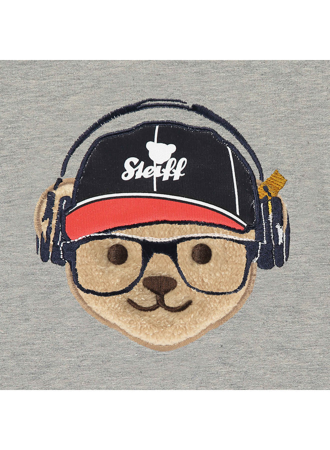 Steiff Sweatshirt mit Raglanärmeln und Teddy-Applikation