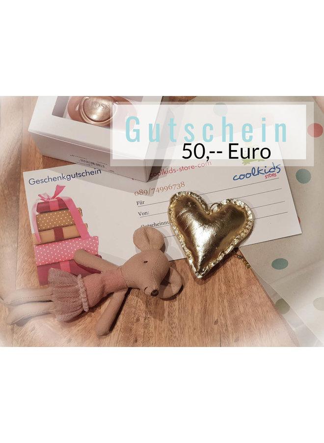 Geschenkgutschein verschiedene Beträge 25 ,-  Euro,  50,-- oder 100,-- Euro
