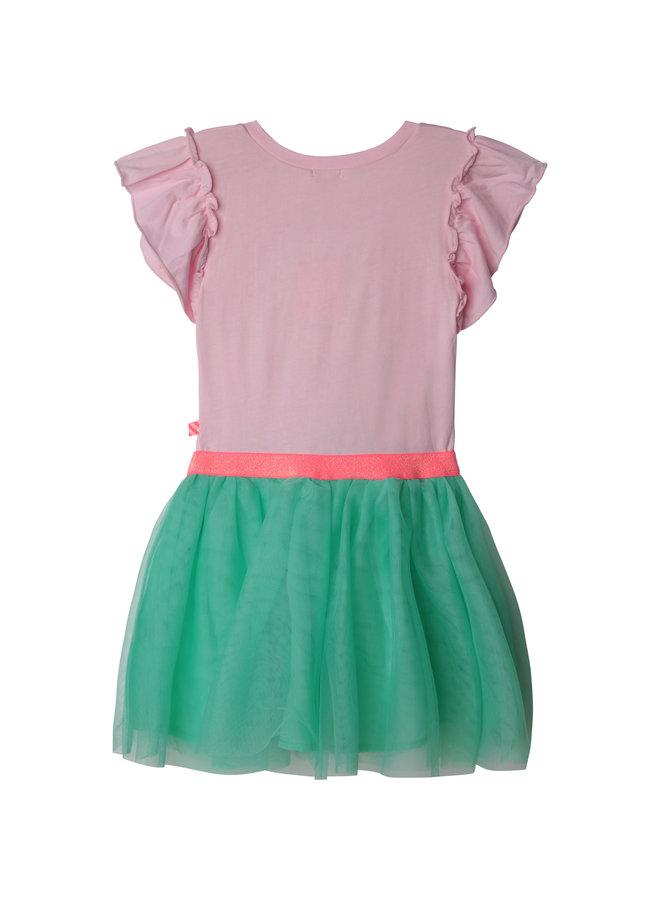 Billieblush Sommerkleid aus 2 Materialien