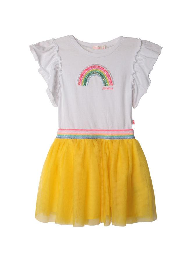 Billieblush Sommerkleid aus 2 Materialien gelb
