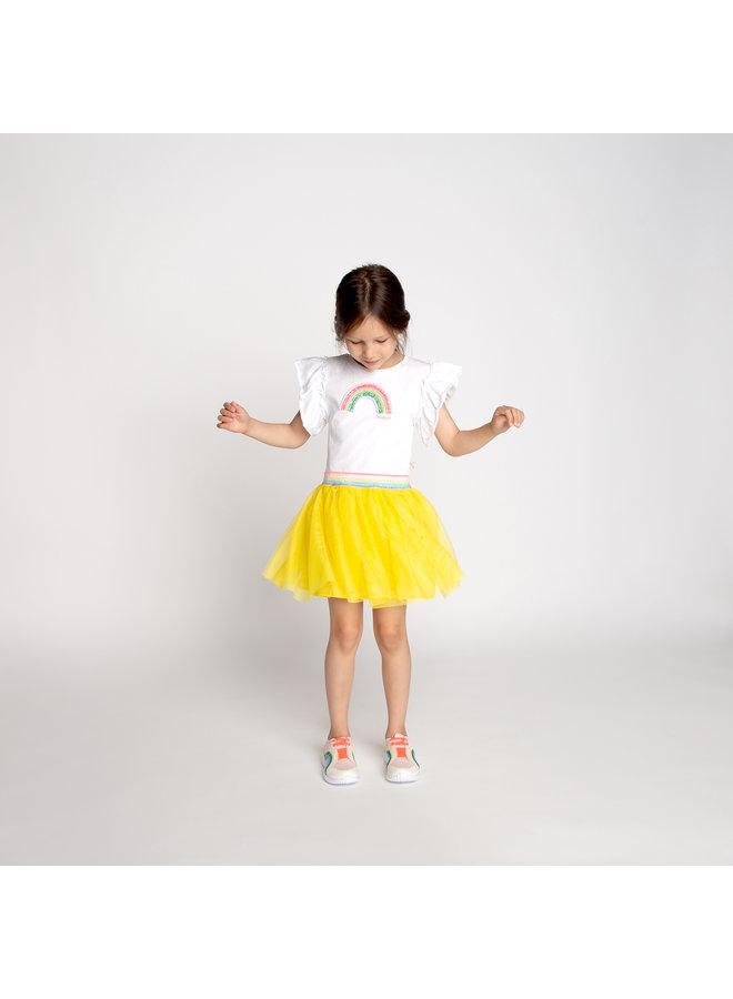 Billieblush Sommerkleid aus 2 Materialien Regenbogen