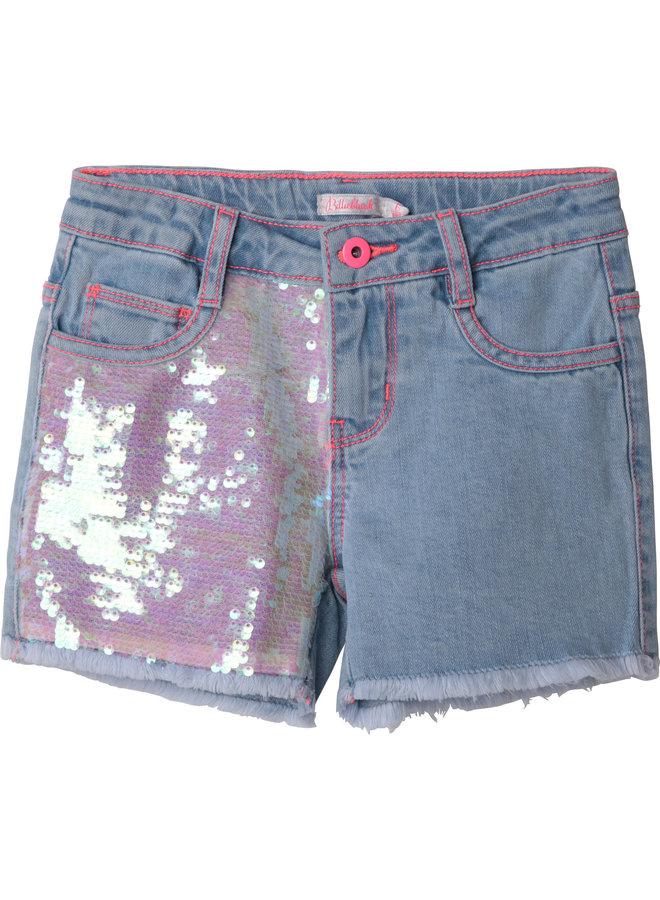 Billieblush Bi Material Jeans Shorts hellblau