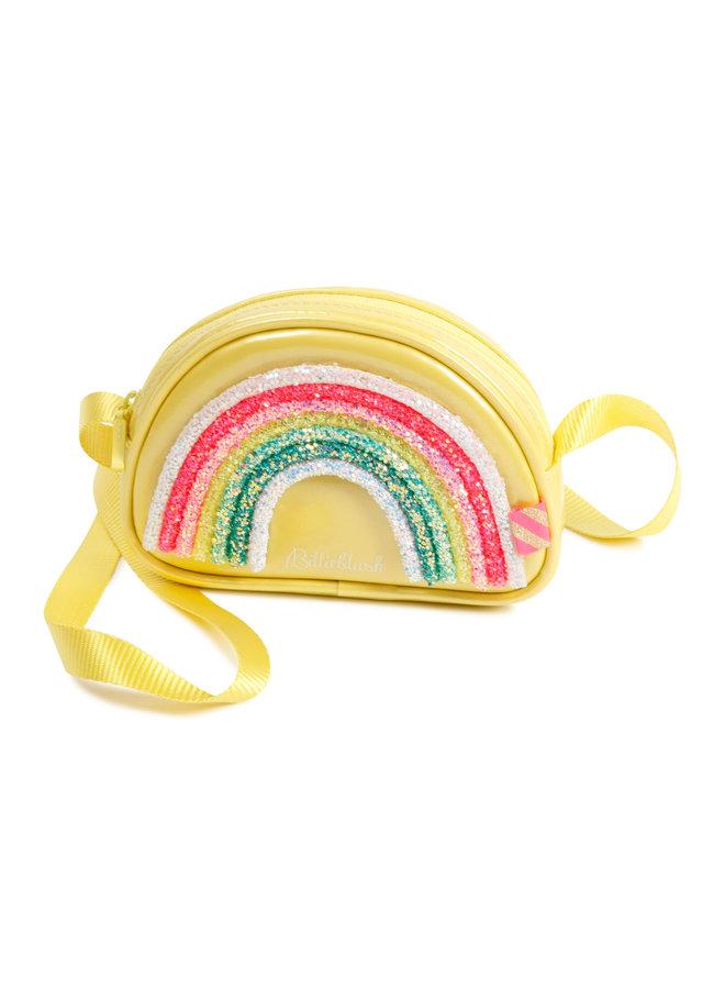 Billieblush Tasche gelb Regenbogen Glitzer
