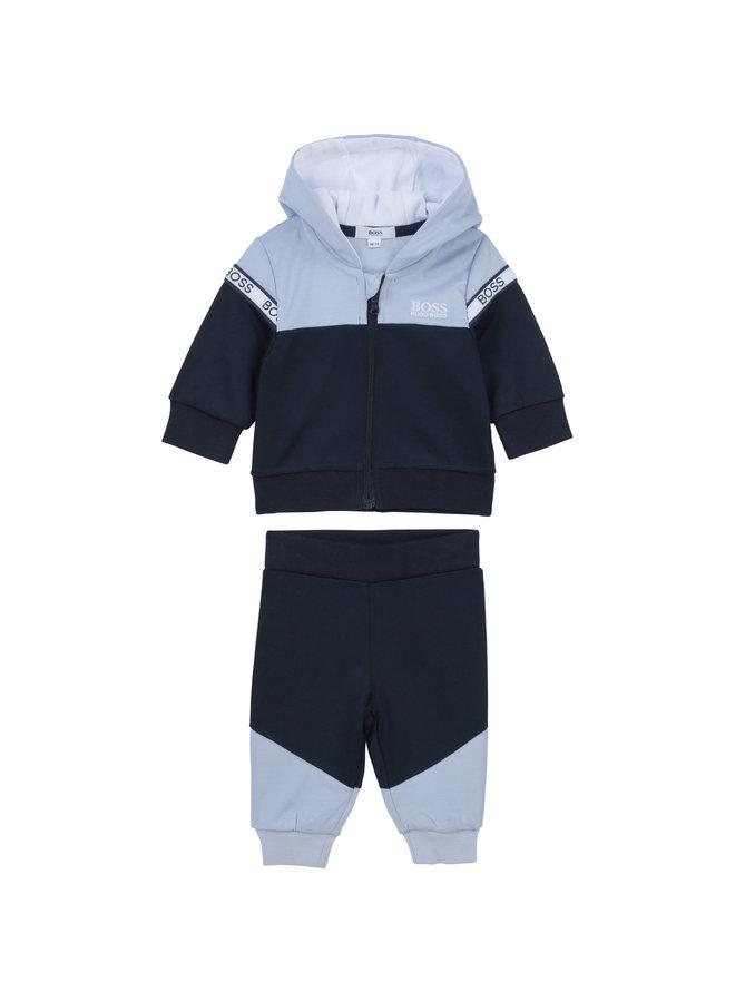 BOSS Baby Jogginganzug marine hellblau