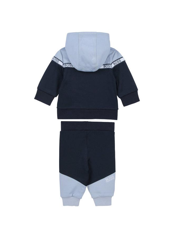 BOSS Baby Jogginganzug marine hellblau mit Logodetails