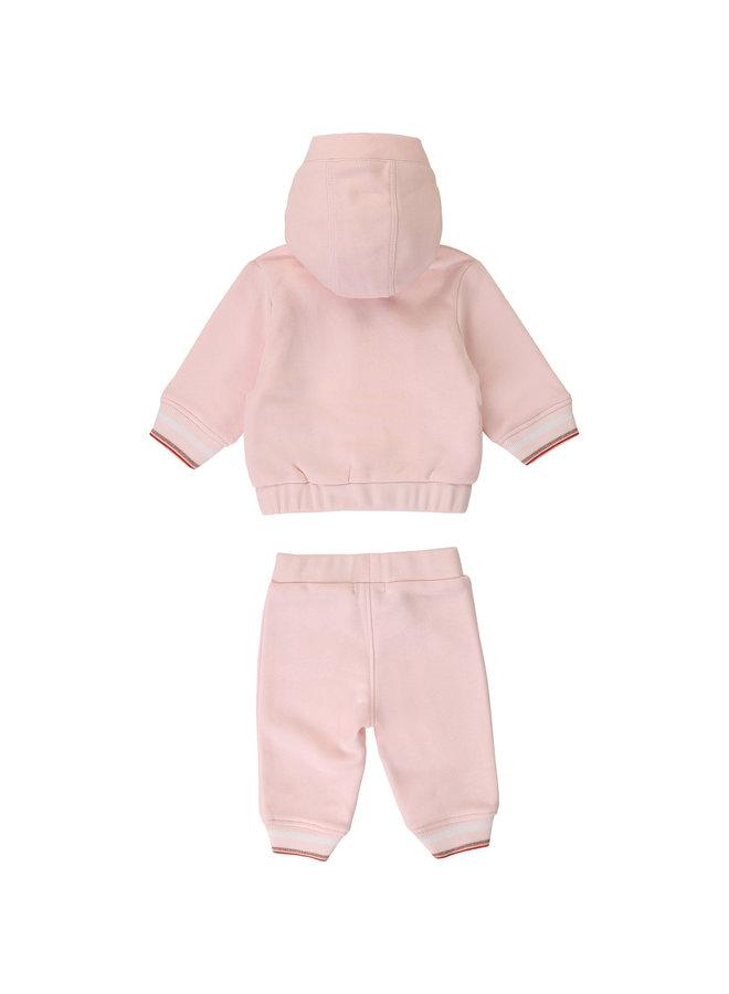 BOSS Baby Jogginganzug rosa mit Logodetails