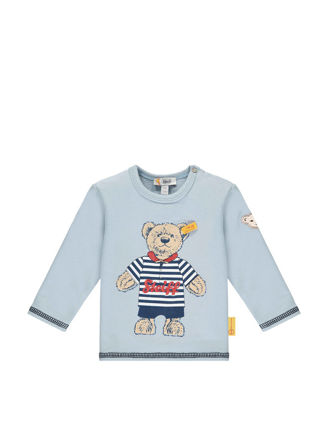 Steiff Baby Langarmshirt hellblau Teddy