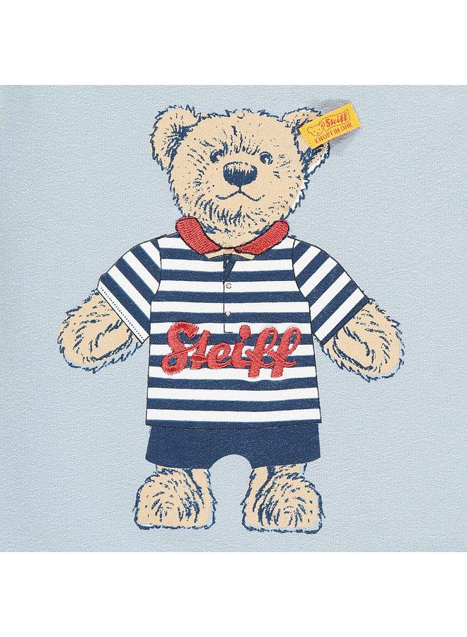 Steiff Baby Langarmshirt mit großem Teddyprint