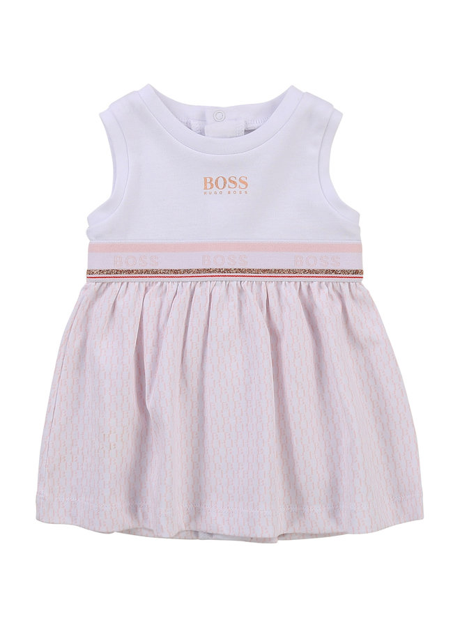 HUGO BOSS Baby Kleid rosa  weiß