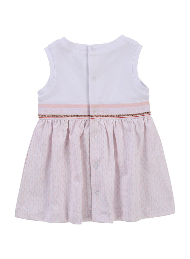 HUGO BOSS Baby Kleid rosa weiß rosegold