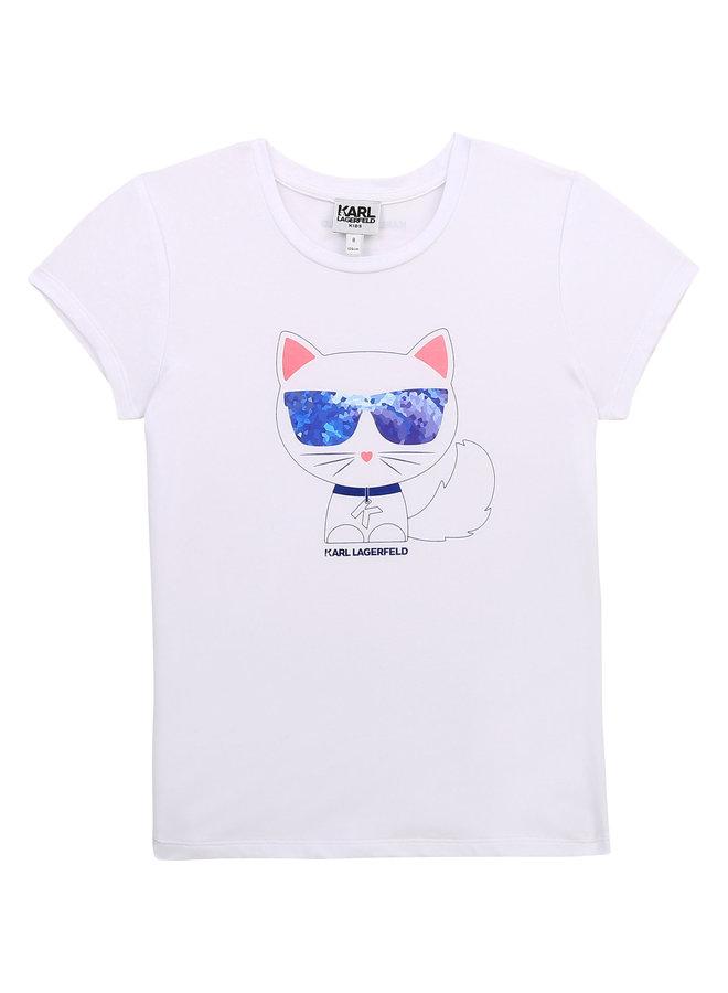 KARL LAGERFELD KIDS T-Shirt weiß Pixel