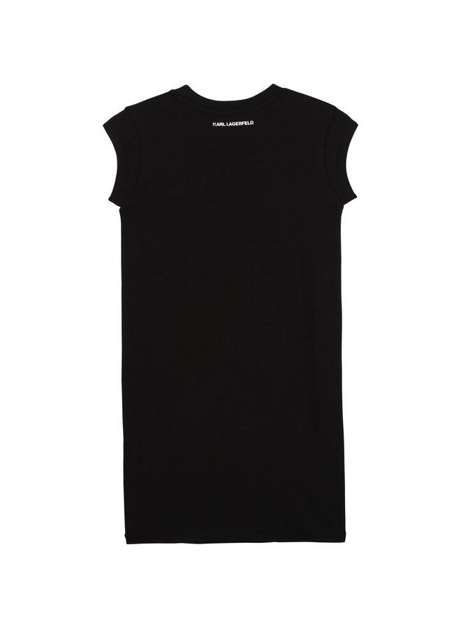 KARL LAGERFELD KIDS Kleid schwarz iconic Chaupette