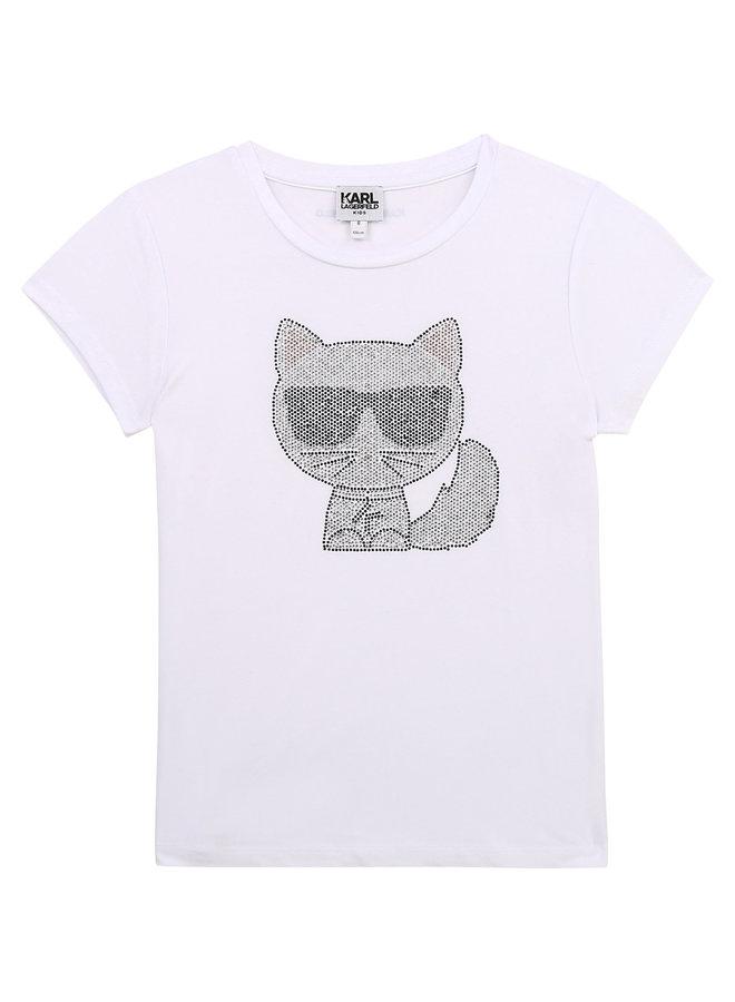 KARL LAGERFELD KIDS T-Shirt Choupette Strass