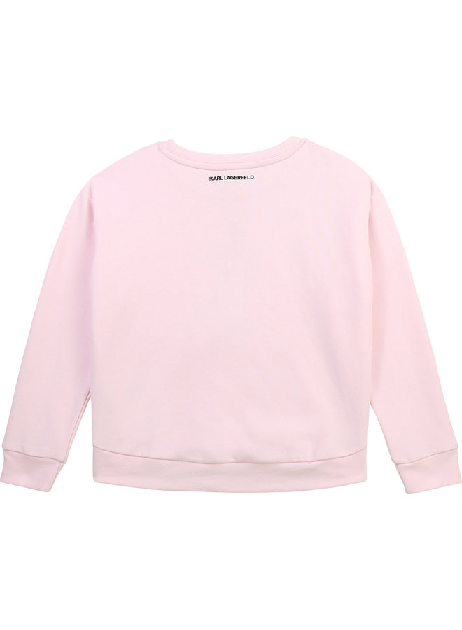 KARL LAGERFELD KIDS Sweatshirt Choupette irisierend rosa