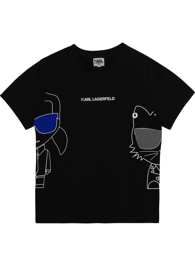 KARL LAGERFELD KIDS T-Shirt Choupette bad boy schwarz