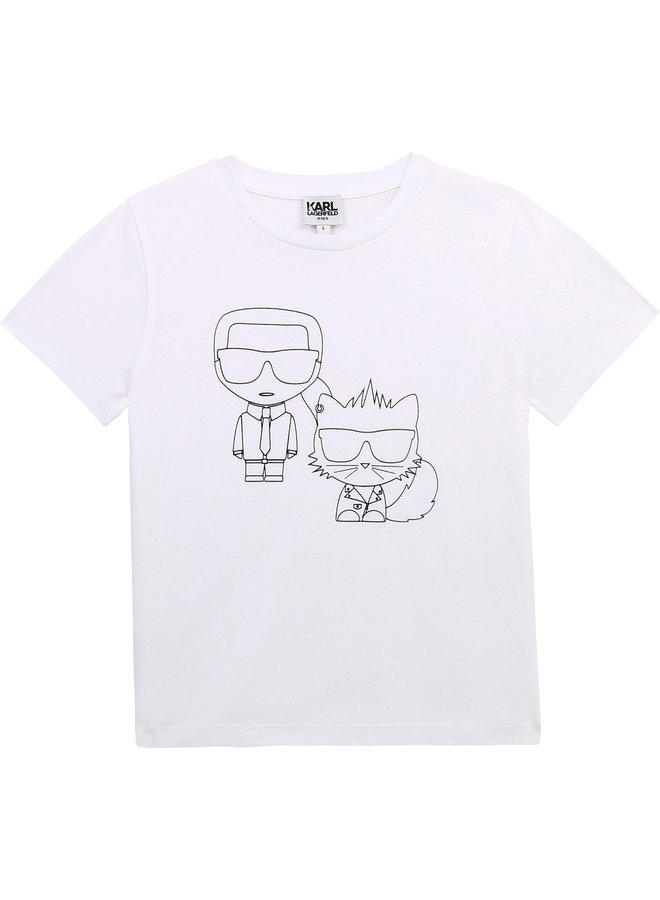 KARL LAGERFELD KIDS T-Shirt weiß iconic Bad Cat