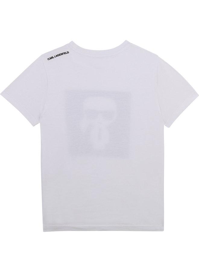 KARL LAGERFELD KIDS T-Shirt weiß ikonisch