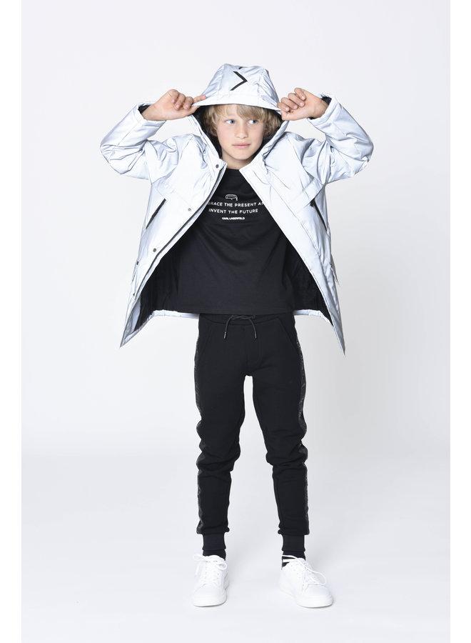 KARL LAGERFELD KIDS T-Shirt schwarz mit Spruch