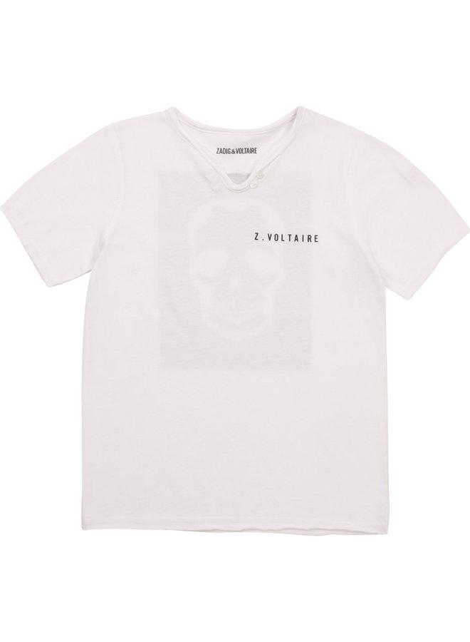 Zadig &Voltaire T-Shirt weiß mit  Rückenprint Scull