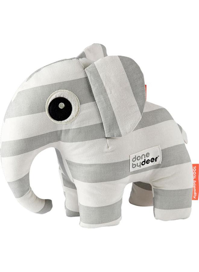Done By Deer Elefant Elphee Kuscheltier grau weiß