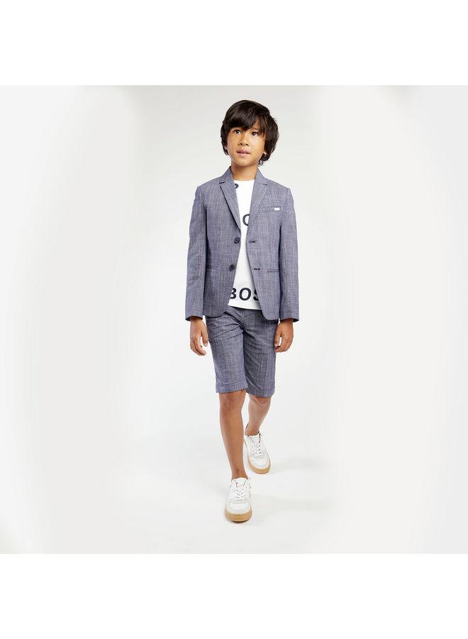 HUGO BOSS Kinder T-Shirt marine allover Logoprint