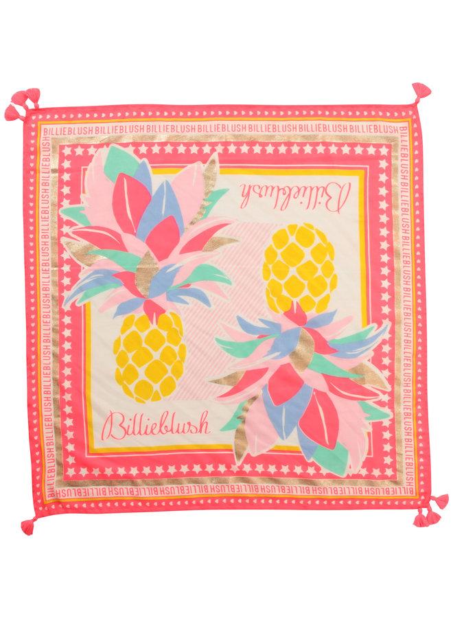 Billieblush Schal Tuch mit Ananas print und Quasten