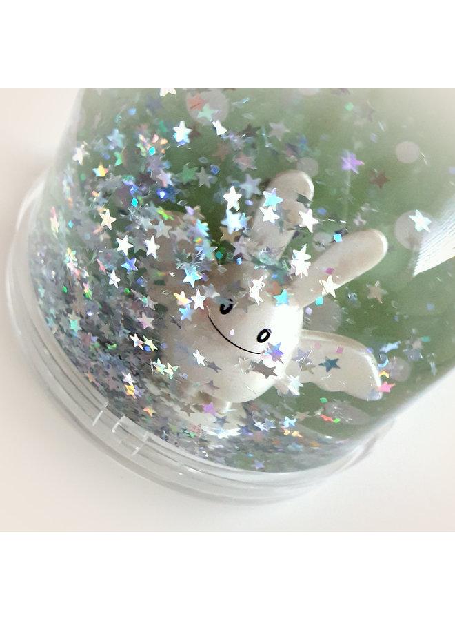 Trousselier Hase Kaninchen Engel Schneekugel und Fotorahmen