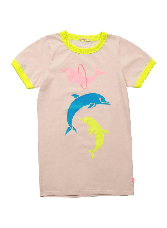 Billieblush Shirtkleid Kleid Delphine rosa und Neon-Farben