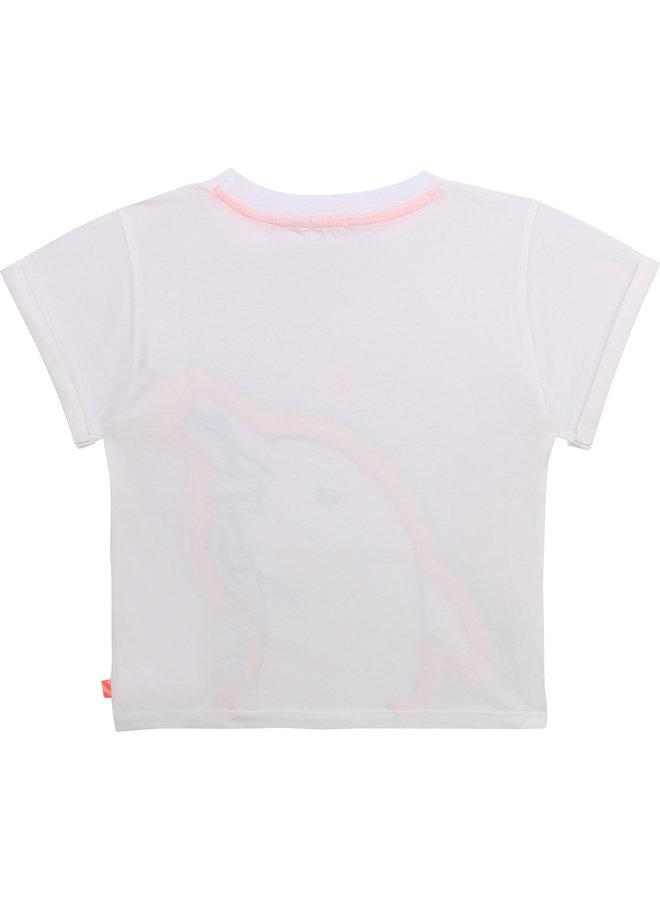 Billieblush T-Shirt mit Glitzer Delphin und Herzchen
