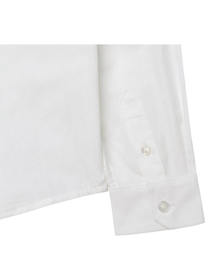 HUGO BOSS Kinder Hemd weiß mit Logostitching