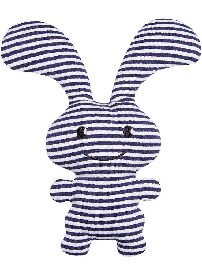 Trousselier Hase Funny Bunny  blau-weiß gestreift  24cm