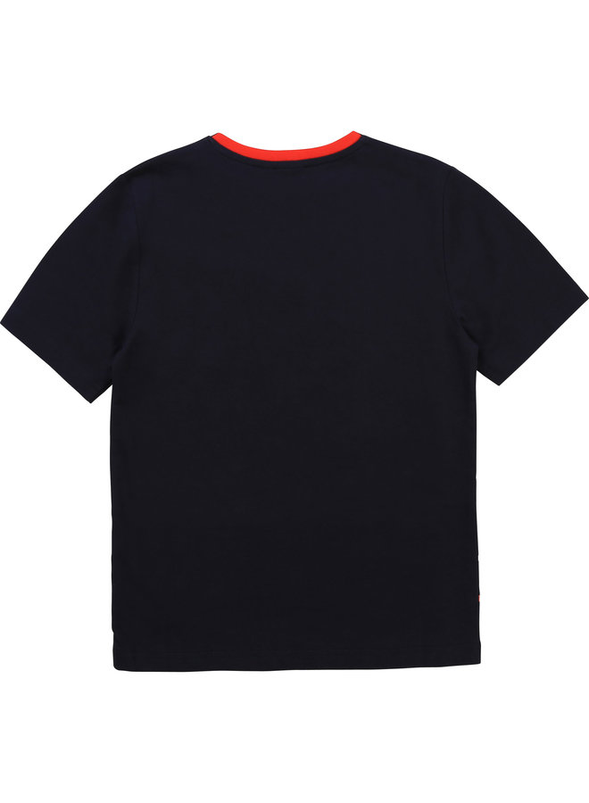 HUGO BOSS Kinder T-Shirt marine Streifen und Logo