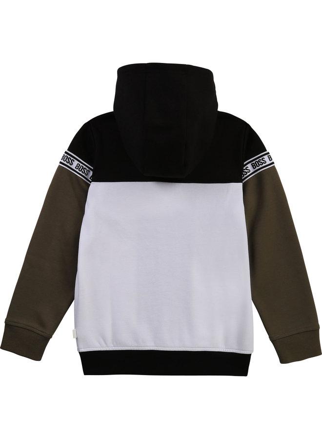 HUGO BOSS Kids Trainingsjacke Hoodie schwarz weiß
