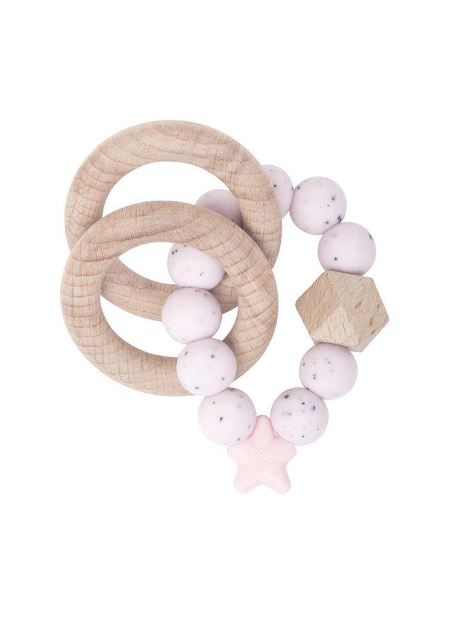 NIBBLING Greifling gesprenkelt rosa natural range