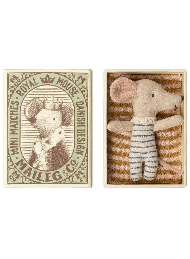 Maileg Baby Maus in Streichholzschachtel