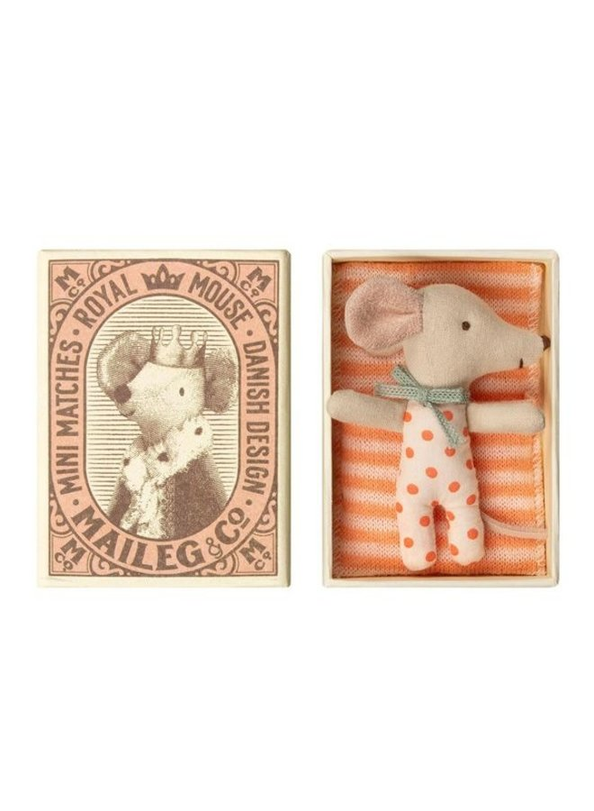 Maileg Baby Maus Girl in Streichholzschachtel
