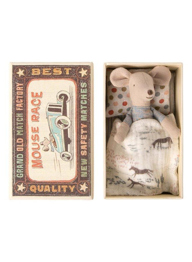 Maileg Little Brother Maus in der Schachtel